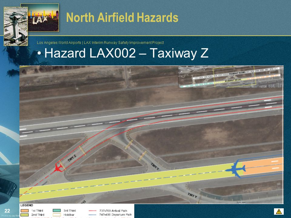22 Los Angeles World Airports | LAX Interim Runway Safety Improvement Project North Airfield Hazards Hazard LAX002 – Taxiway Z
