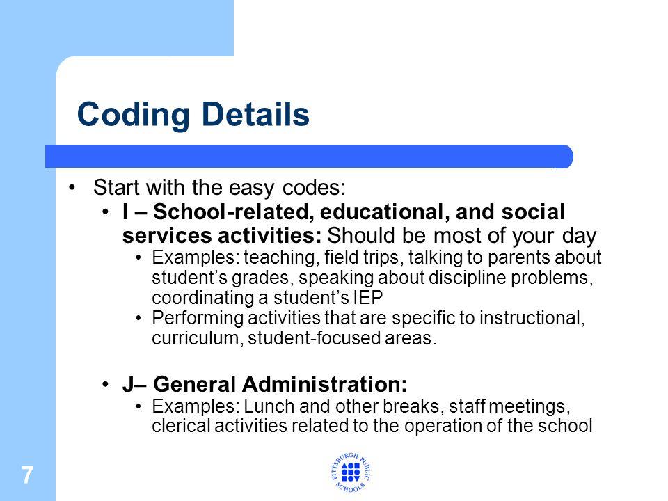 8 Coding Details, cont.