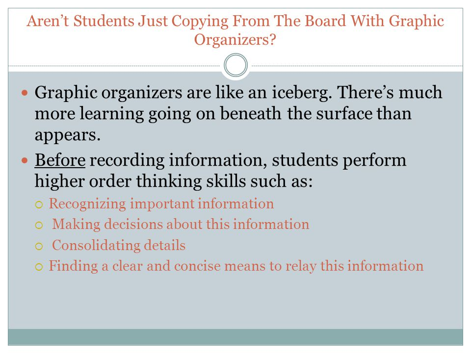 Aren't Students Just Copying From The Board With Graphic Organizers.