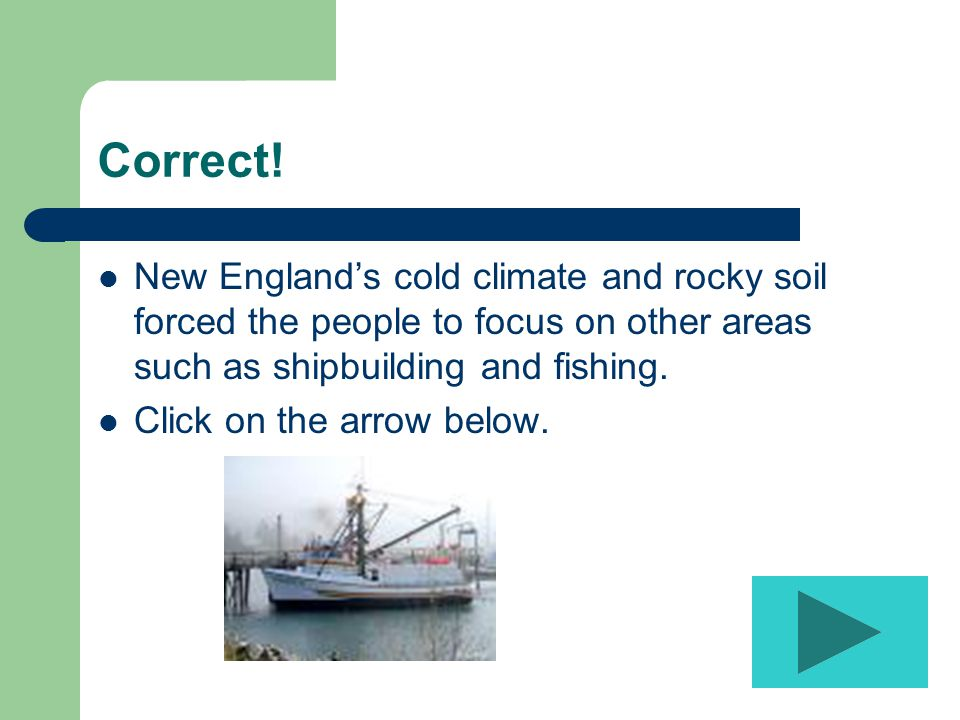 INCORRECT, try again! Click on the arrow to return to the question.
