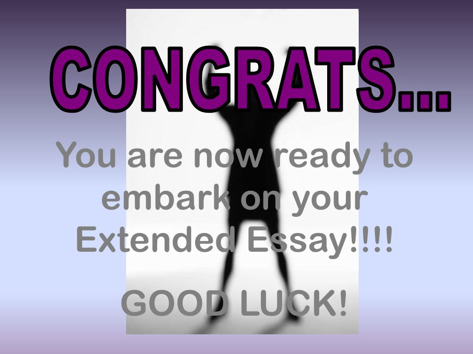 If you were told to write an extended essay about anything at all, what would it be?
