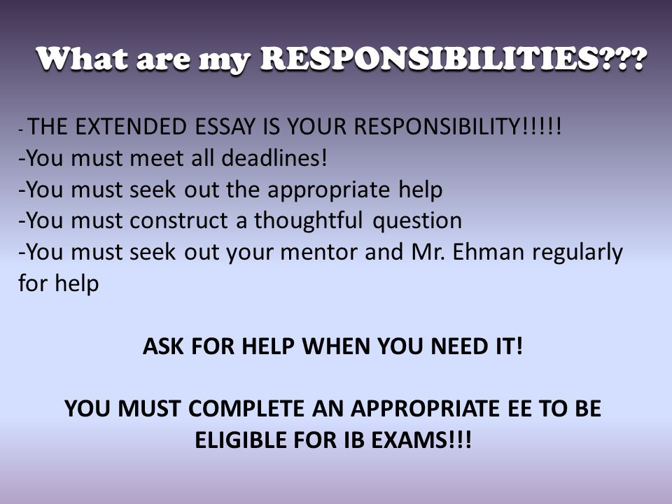 essay on responsibility at school Free essay: on wednesday january 5, 2011 a millard south high school student walked into his high school armed with a gun the boy had been suspended from.