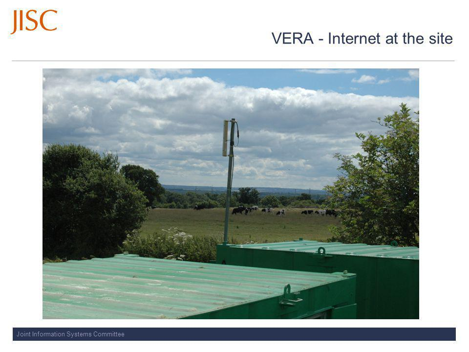 Joint Information Systems Committee VERA - Internet at the site