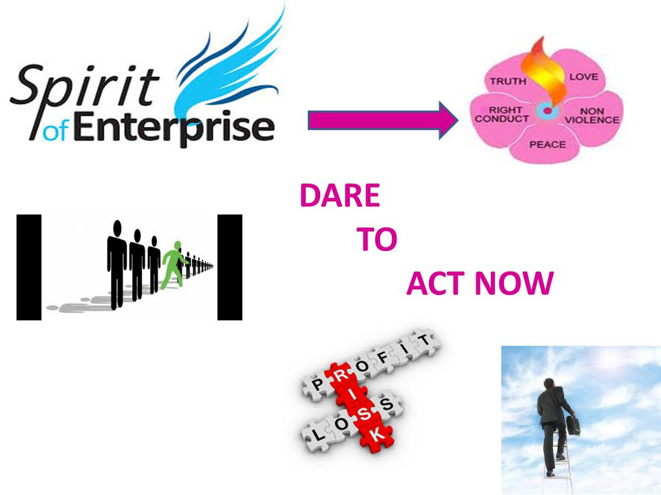 SPIRIT OF ENTERPRISE AND COURAGE IS A SUB VALUE UNDER THE CARDINAL HUMAN VALUE OF 'RIGHT CONDUCT'.