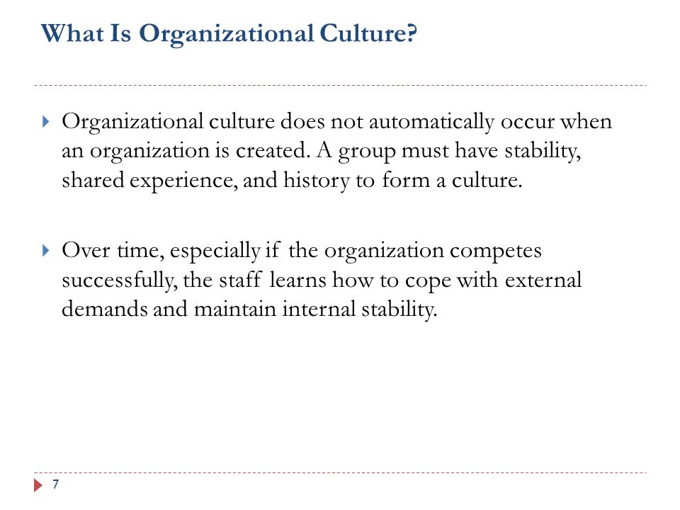 What Is Organizational Culture.