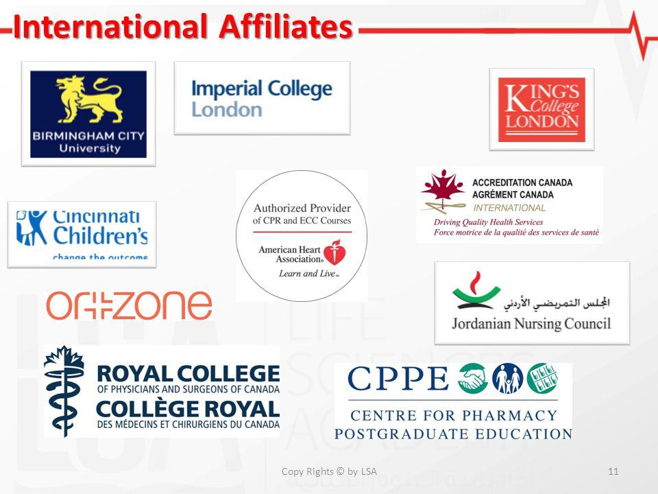 11 International Affiliates