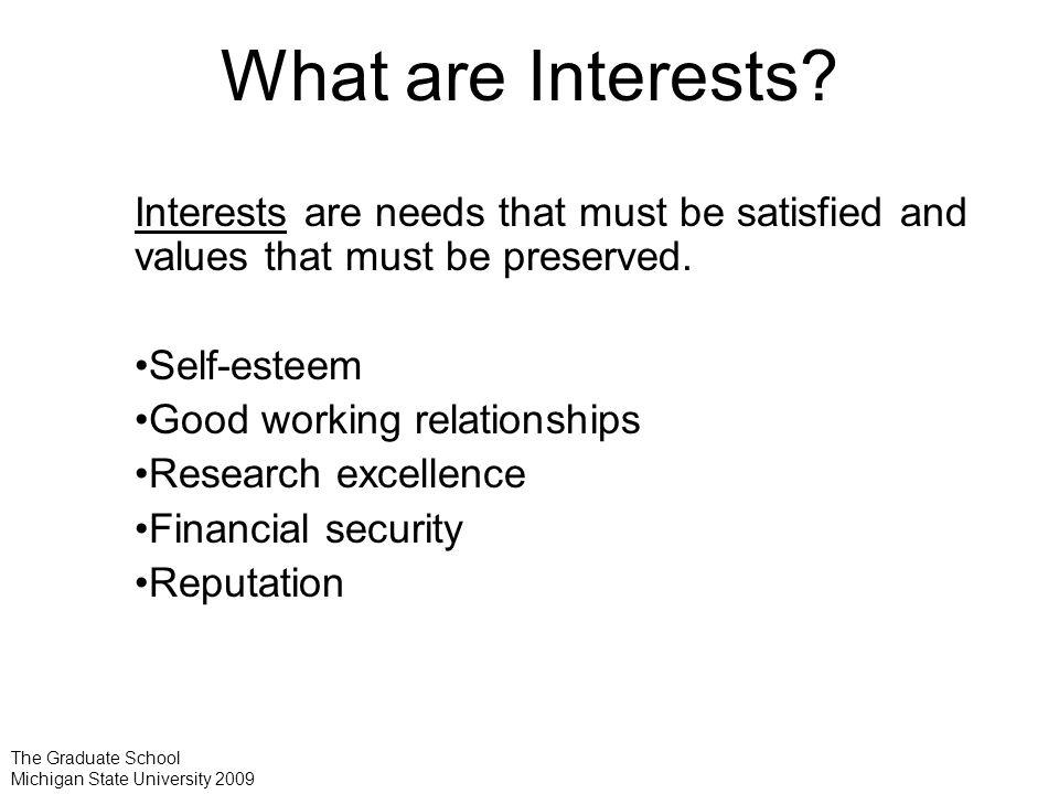 What are Interests.