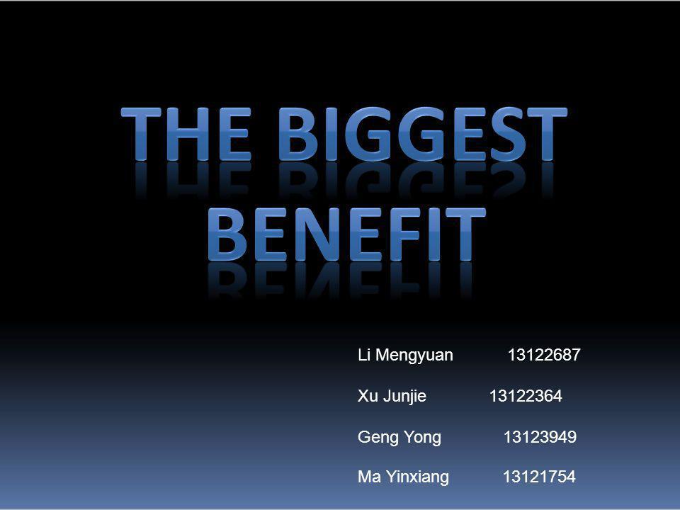 Li Mengyuan 13122687 Xu Junjie 13122364 Geng Yong 13123949 Ma Yinxiang 13121754