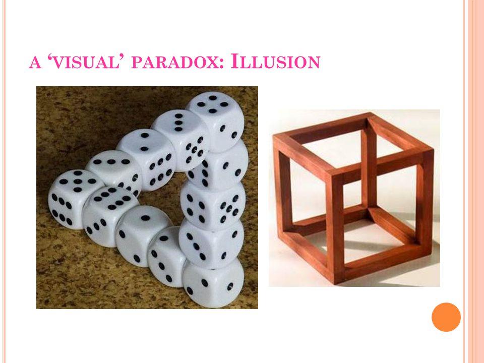 A ' VISUAL ' PARADOX : I LLUSION