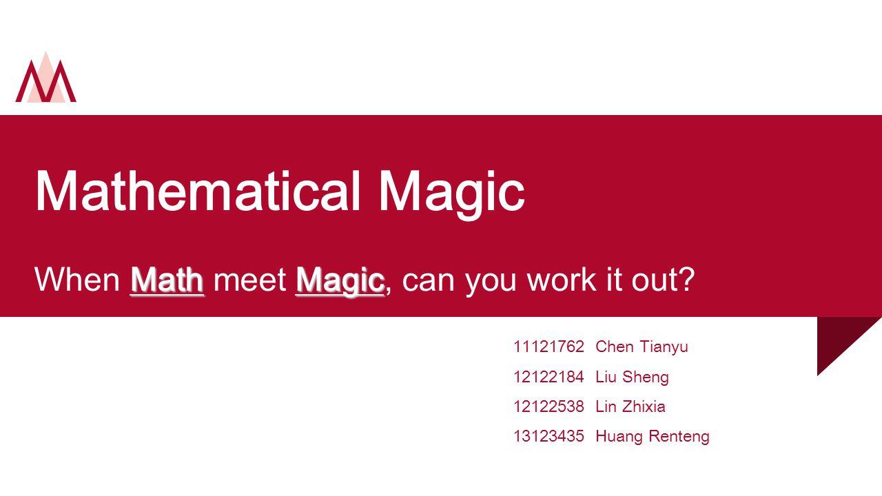 Introduction 1 2 3 Math+Magic=.27 card thick. Talking jokers.