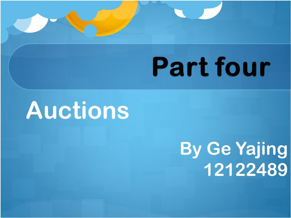 Auctions By Ge Yajing 12122489