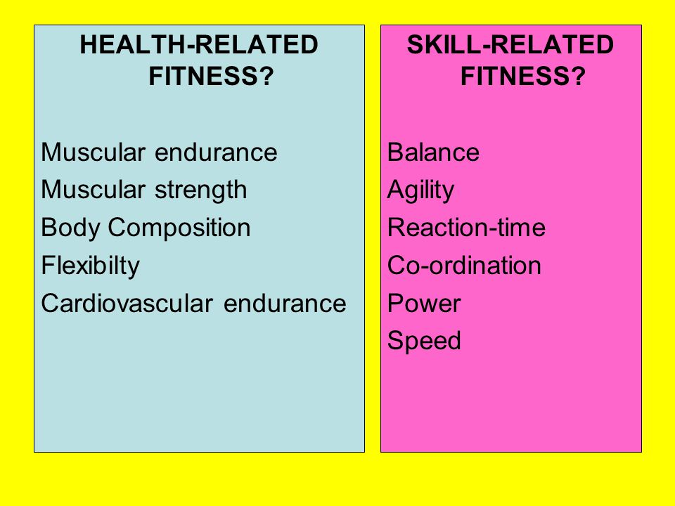 HEALTH-RELATED FITNESS.