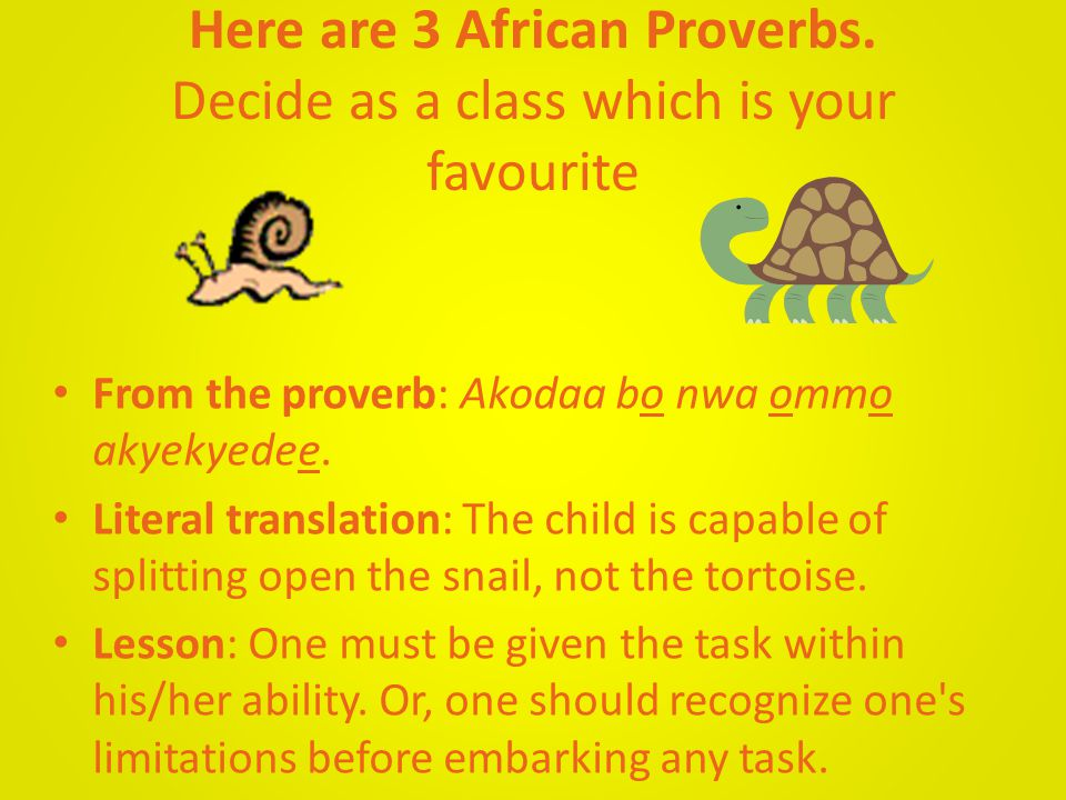 From the proverb: Anomaa nitefoo, afidie yi no a, eyi no ntentennoa.