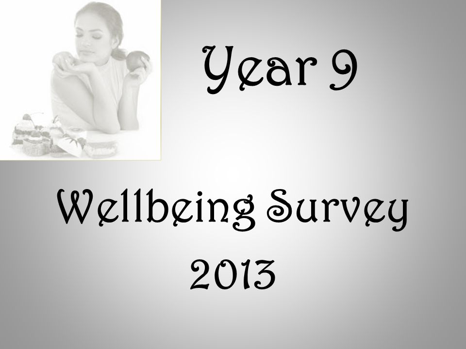Year 9 Wellbeing Survey 2013
