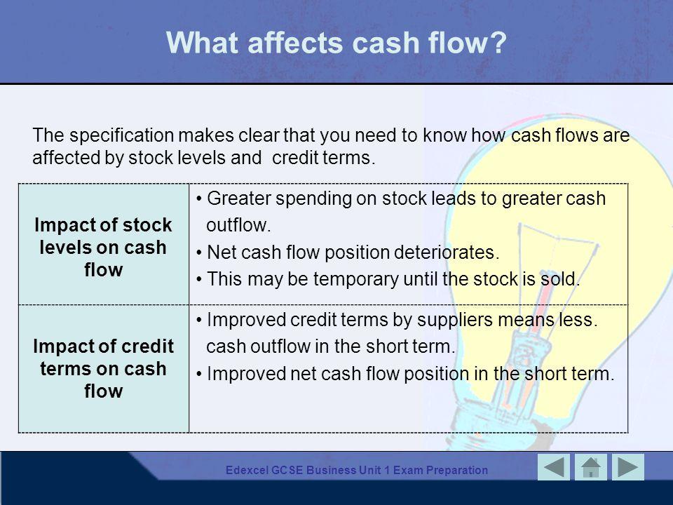Edexcel GCSE Business Unit 1 Exam Preparation Why is cash flow important.