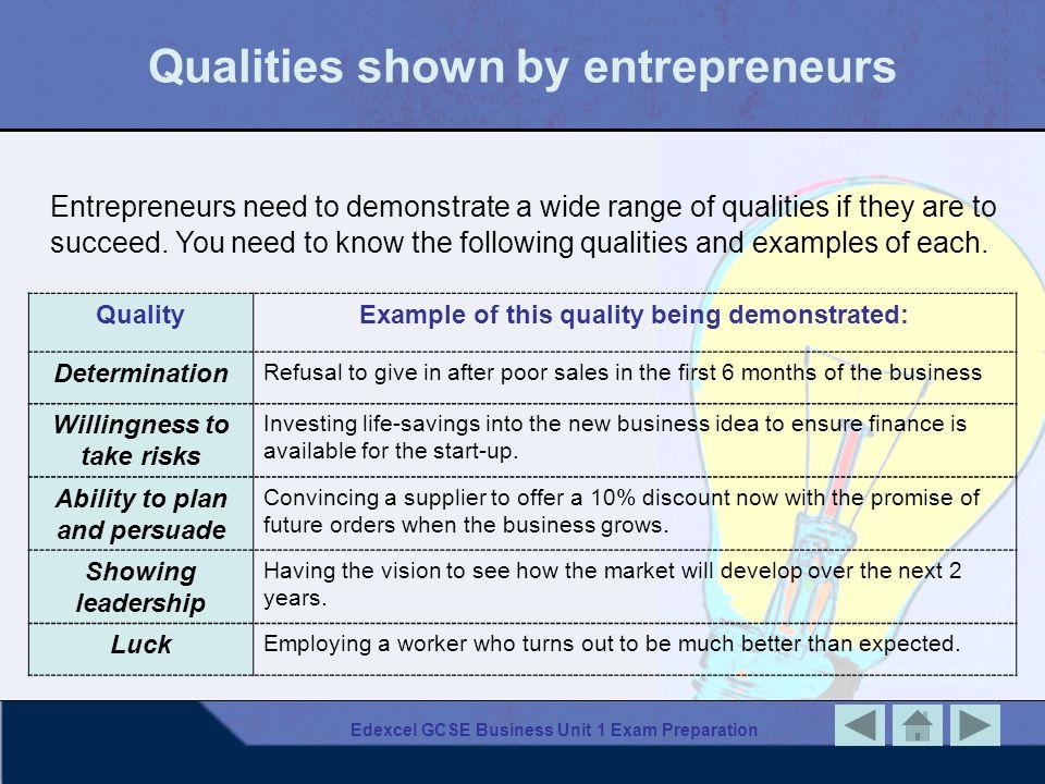 Edexcel GCSE Business Unit 1 Exam Preparation Estimating revenues and costs No.