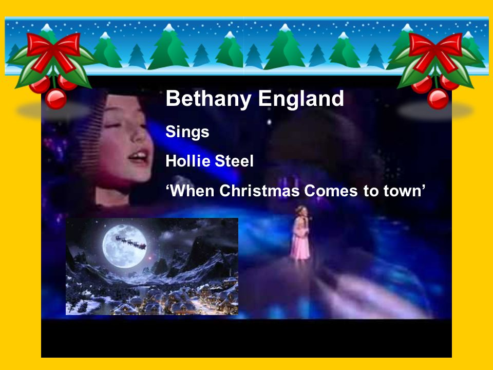 Bethany England Sings Hollie Steel 'When Christmas Comes to town'