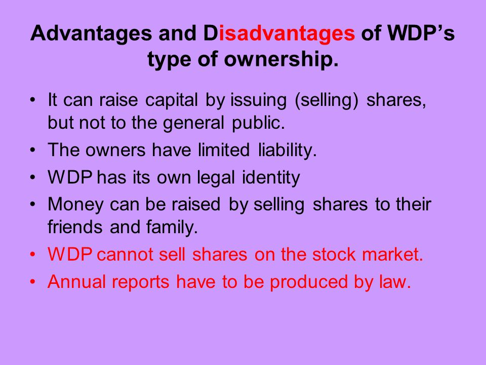 What can WDP use retained profits for.