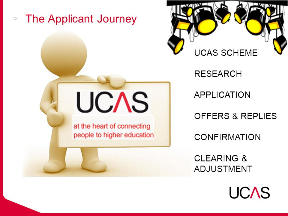 Conditional offers  Could be made in terms of UCAS Tariff score alone e.g.