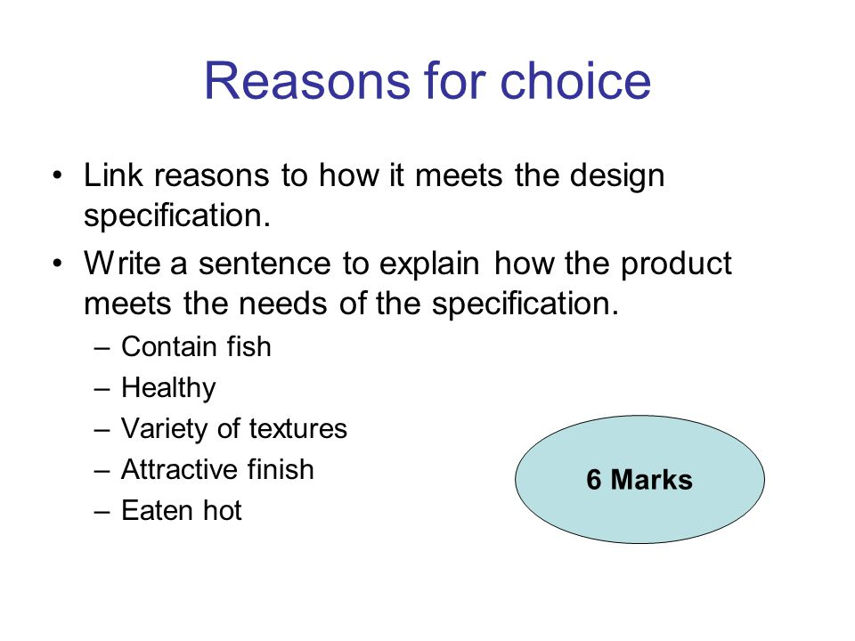 Write a 3 point Product Specification for your product Do NOT repeat any of the design specification points It must contain specific details