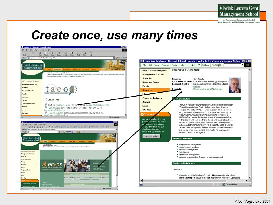 Alec Vuijlsteke 2004 Research evaluation tool What research is planned?