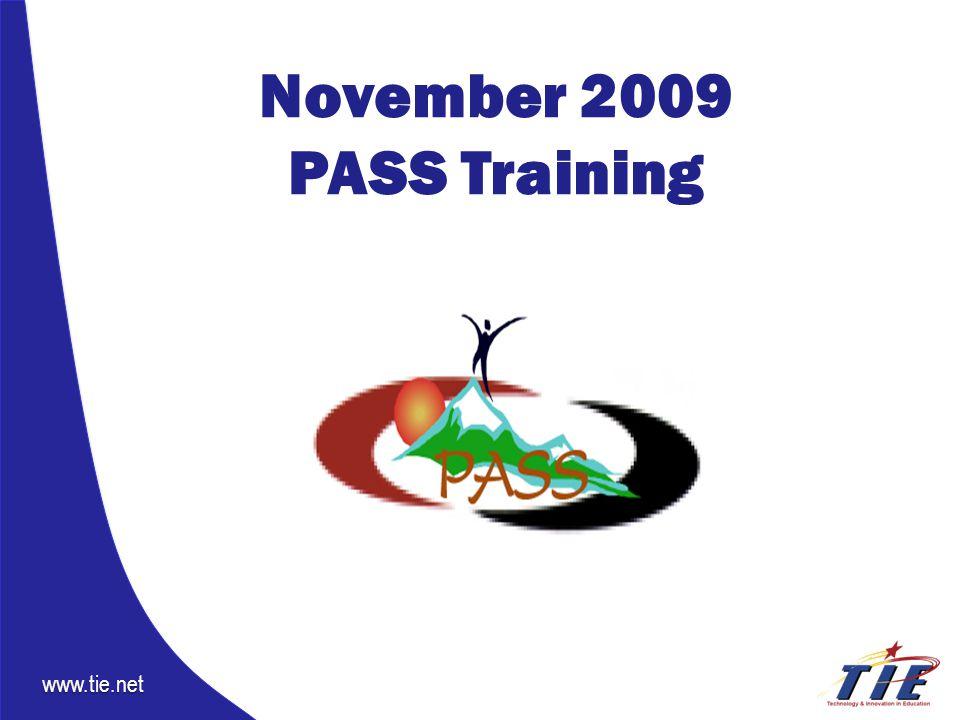 www.tie.net November 2009 PASS Training