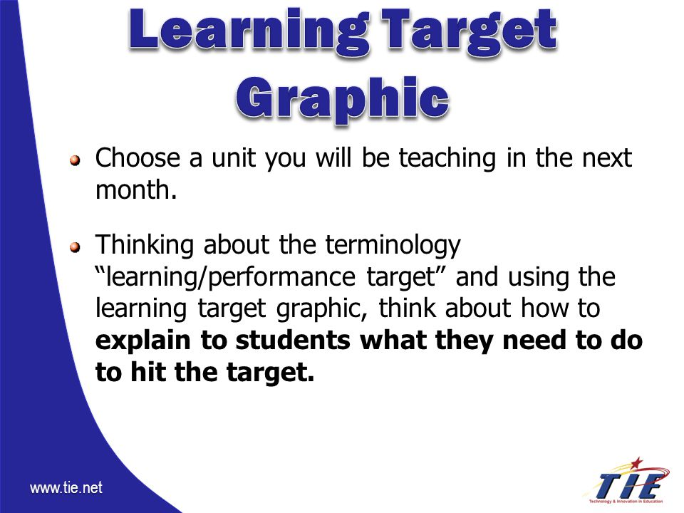 www.tie.net Choose a unit you will be teaching in the next month.