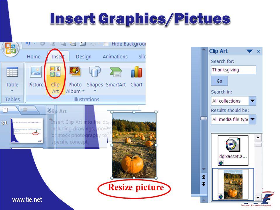 www.tie.net Resize picture