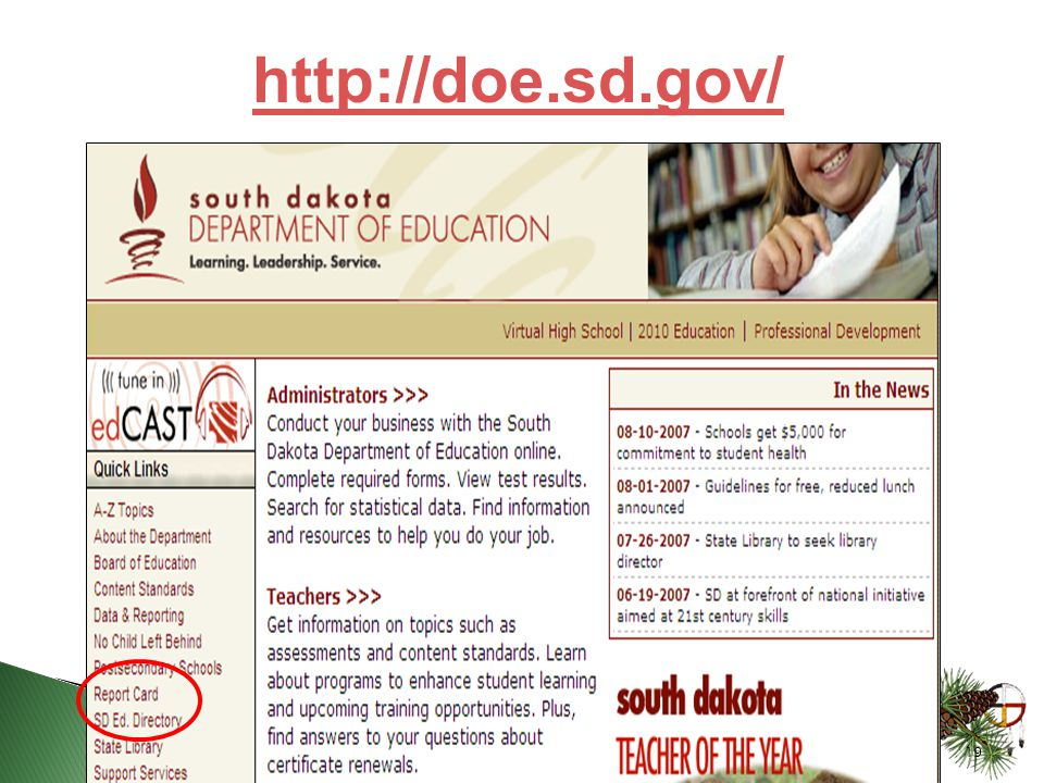 19 http://doe.sd.gov/