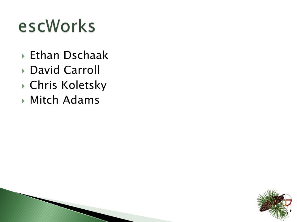  Ethan Dschaak  David Carroll  Chris Koletsky  Mitch Adams