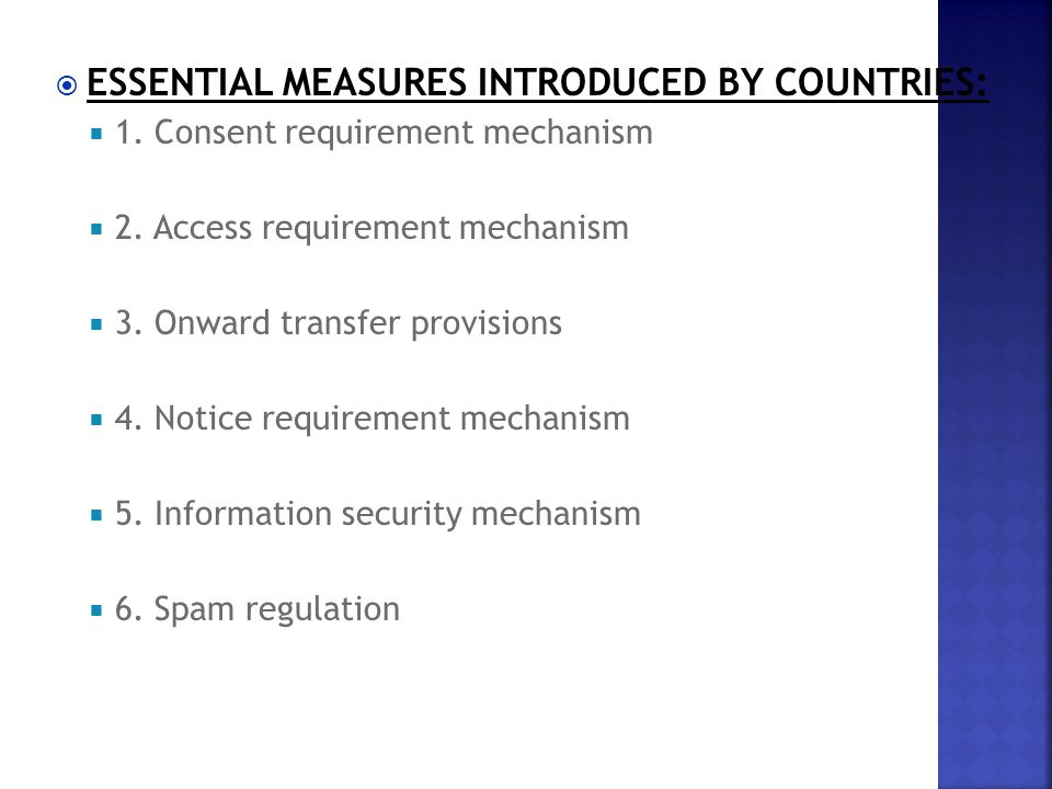  ESSENTIAL MEASURES INTRODUCED BY COUNTRIES:  1.