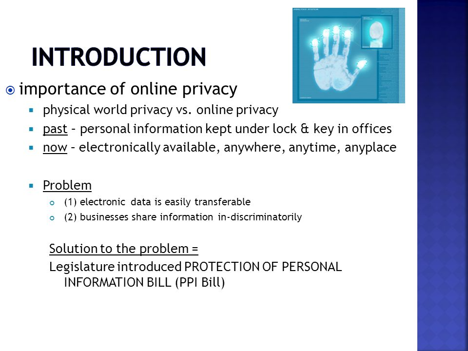  importance of online privacy  physical world privacy vs.