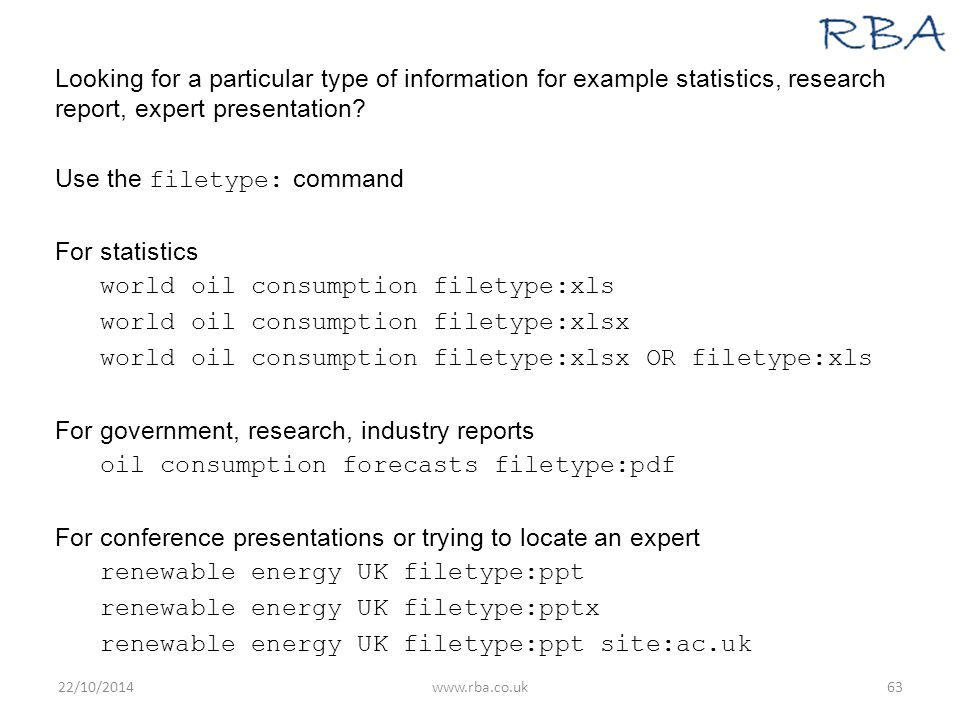 Looking for a particular type of information for example statistics, research report, expert presentation.