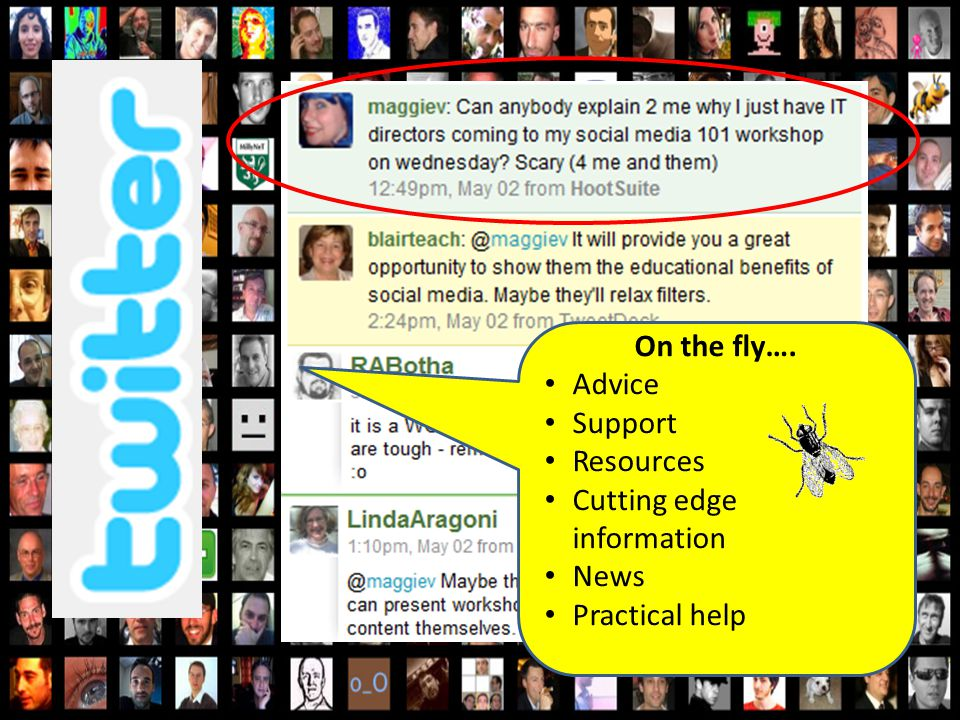 On the fly…. Advice Support Resources Cutting edge information News Practical help