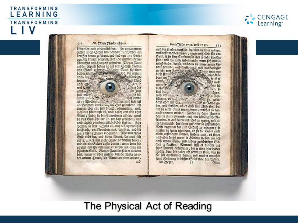 The Physical Act of Reading