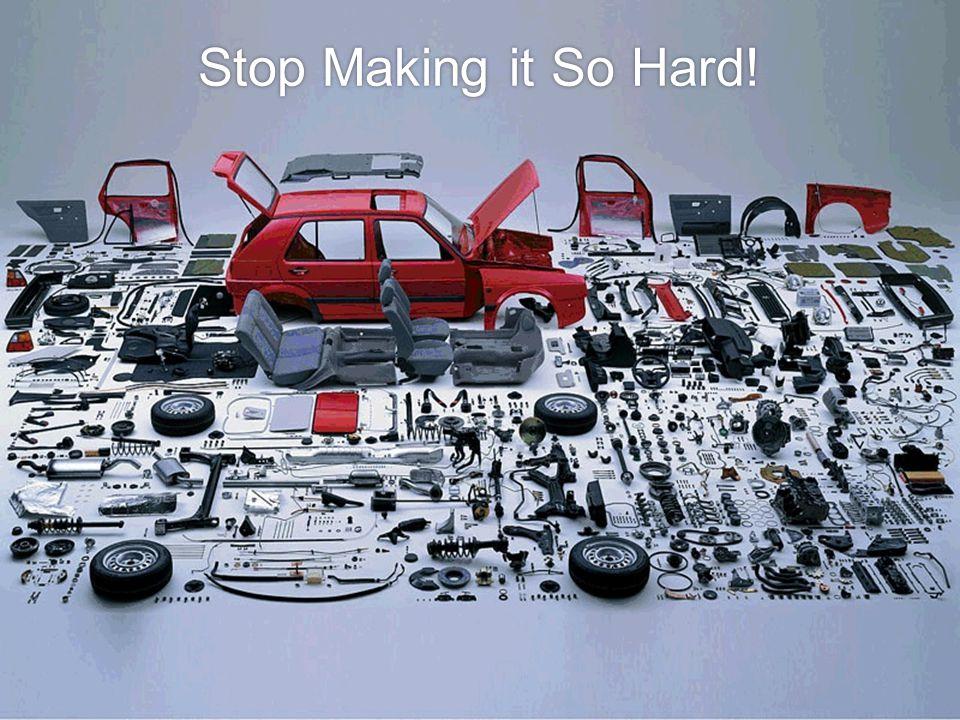 Stop Making it So Hard!
