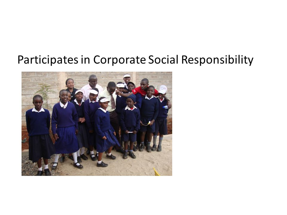 Participates in Corporate Social Responsibility