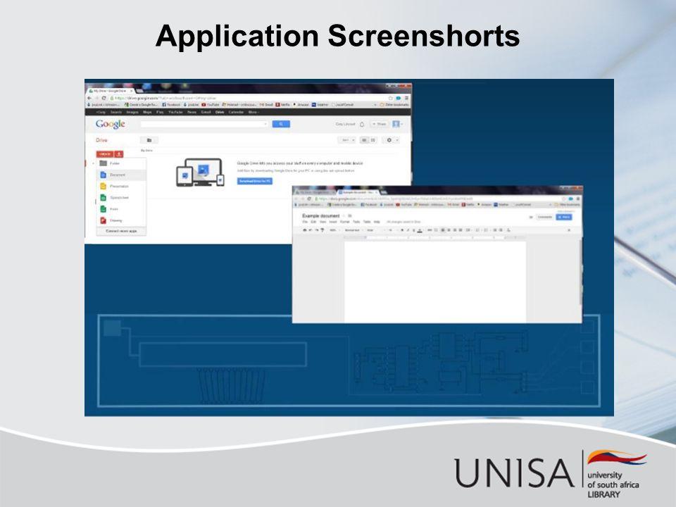 Application Screenshorts