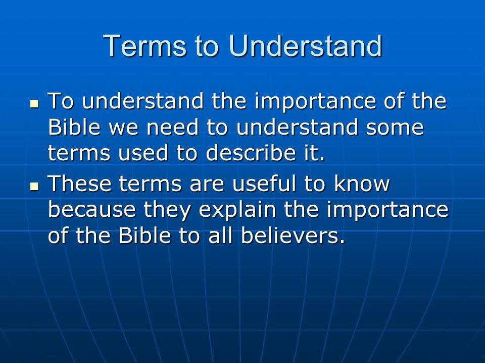 Terms INERRANT – free from error of any kind (including historical, chronological, genealogical and scientific error), no errors, totally and completely exempt from errors, absolutely true, no mistakes, no flaws, no contradictions, no discrepancies, no inconsistencies, no inaccuracies, no disagreements, no imperfections, no defects, no deceptions, no blunders, no lies (Titus 1:2; Hebrews 6:18), no falsity, no misconceptions, no false impressions, the TRUTH, the whole TRUTH, and nothing but the TRUTH (John 17:17; Psalm 119:160).