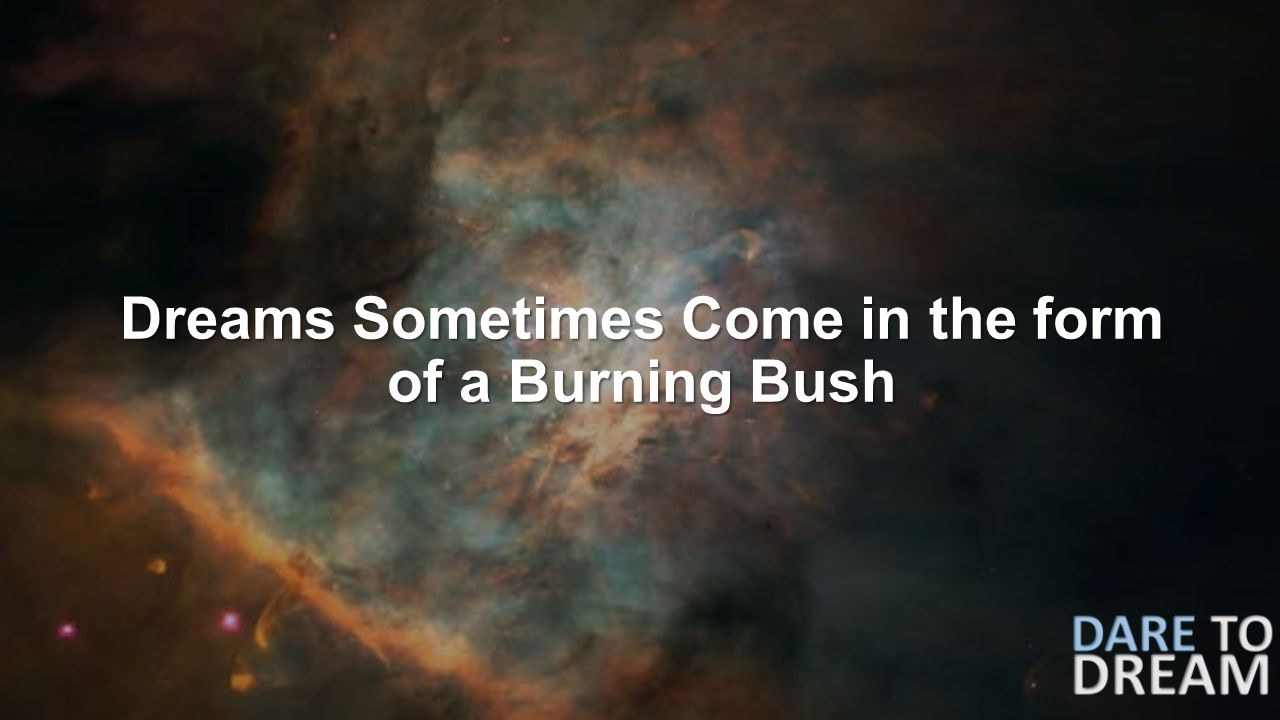 Dreams Sometimes Come in the form of a Burning Bush