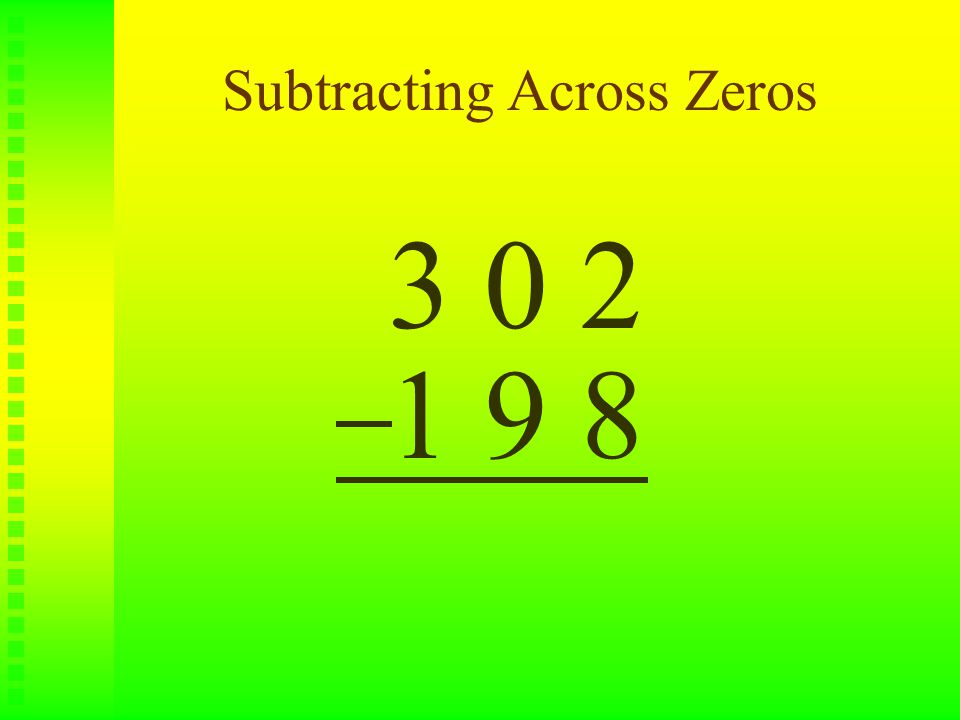 Subtraction Tips