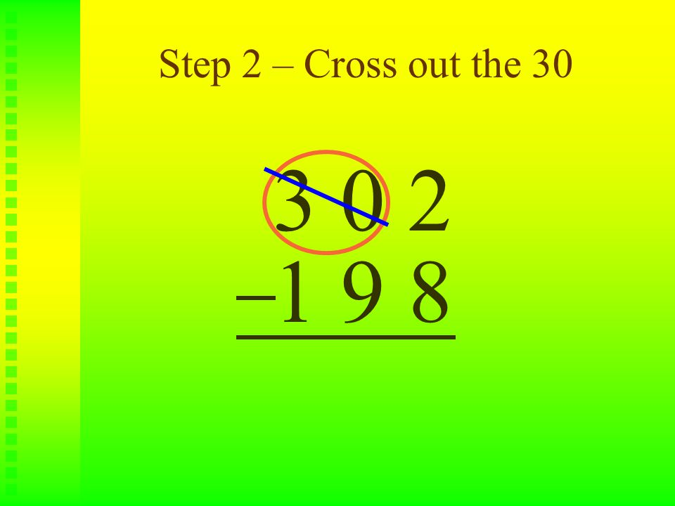 Step 3 – Write a 29 above the 30 3 0 2 1 9 8 2 9