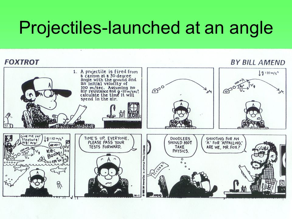 Projectiles-launched at an angle