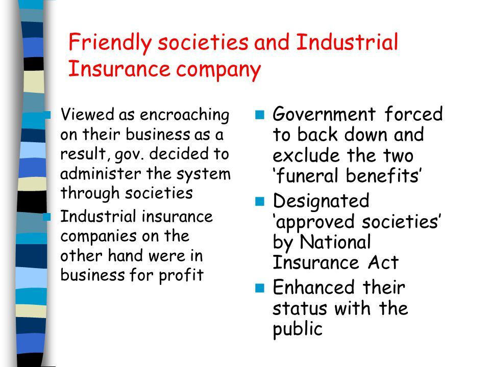 Doctors Felt that they were being paid a pittance for treating the 'societies' working class clients Wanted medical side of insurance scheme to be run by the profession free from friendly society domination