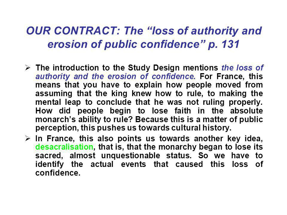 OUR CONTRACT: The loss of authority and erosion of public confidence p.