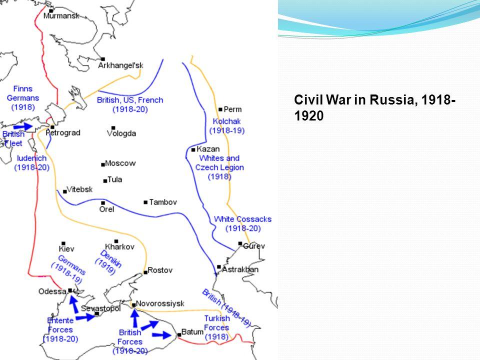 Civil War in Russia, 1918- 1920