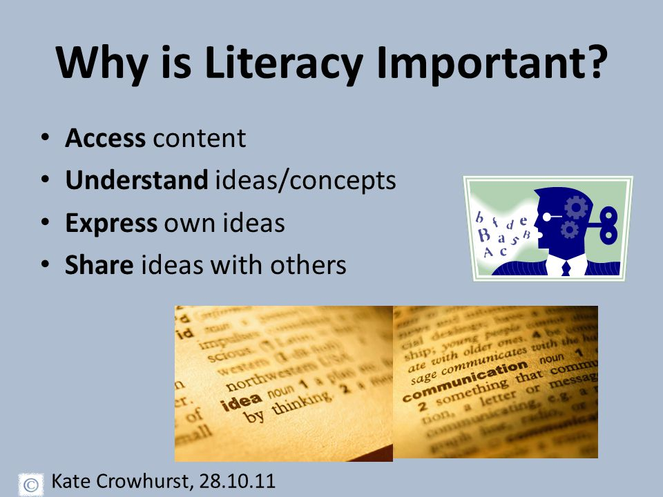 Middle Literacy Know your students' backgrounds: – Are they motivated in their learning.