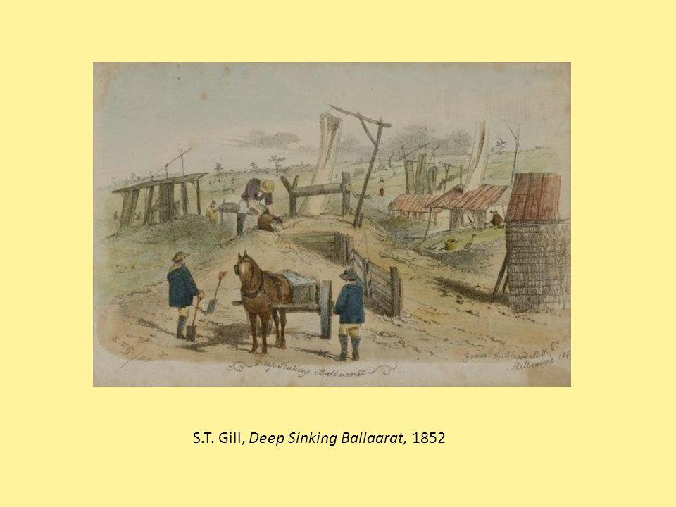 S.T. Gill, Deep Sinking Ballaarat, 1852