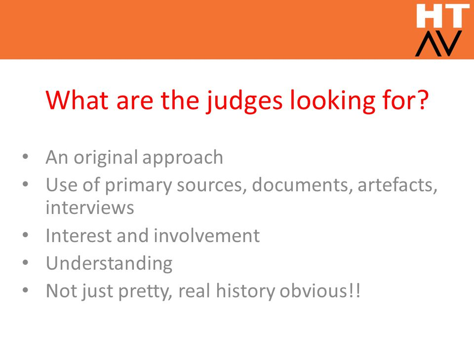 What are the judges looking for.