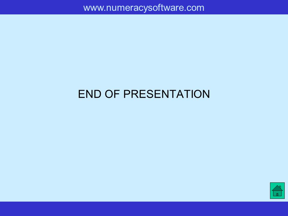 www.numeracysoftware.com END OF PRESENTATION